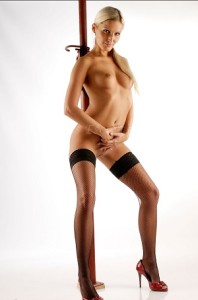Lasvegasescortsbabes.com- Ilana standing nude in black stockings